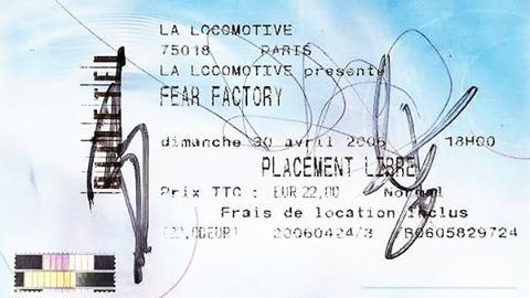 Touringram FearFactory Transgression Tour 2006 LaLocomotive  MiseryIndexRead More