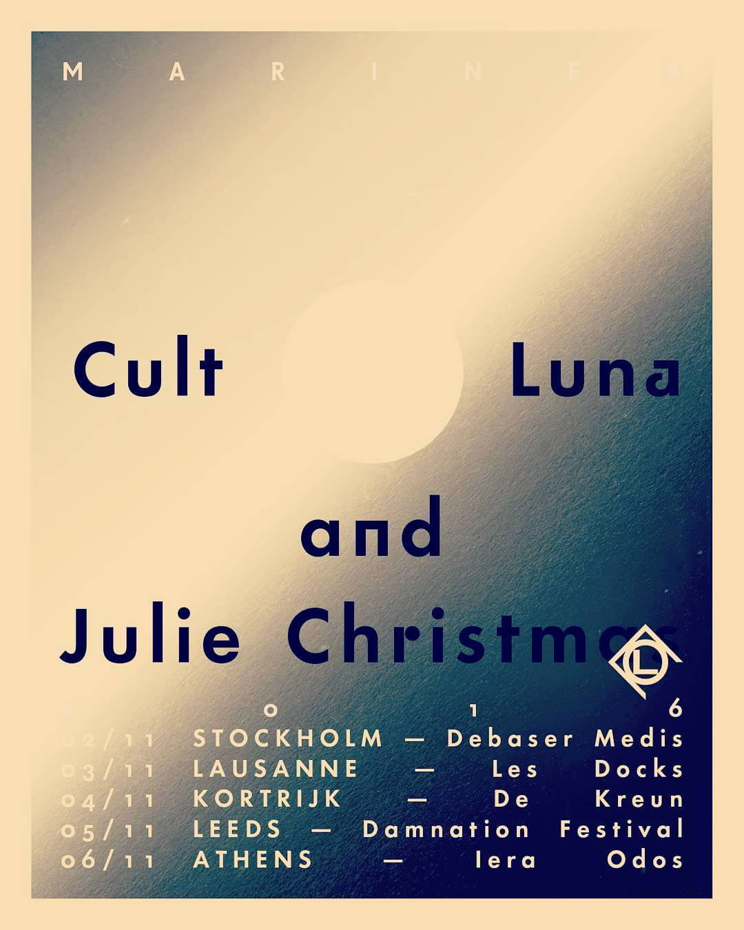 Touringram CultOfLuna amp JulieChristmas  Mariner Tour Europe 2016Read More