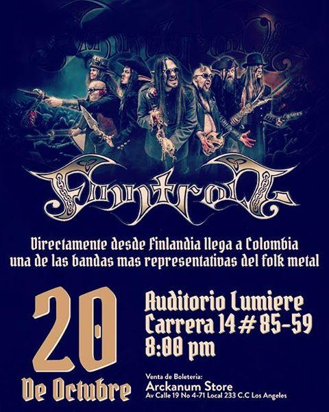 touringram metalshow FINNTROLL en Colombia 2016 Octubre 20 en elhellip