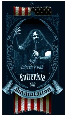 Exclusiva entrevista con Immolation, Atonement - A killer Metal interview with Immolation, Atonement