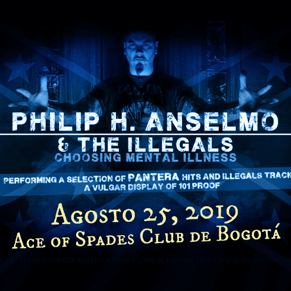 Phil Anselmo en Colombia 2019.
