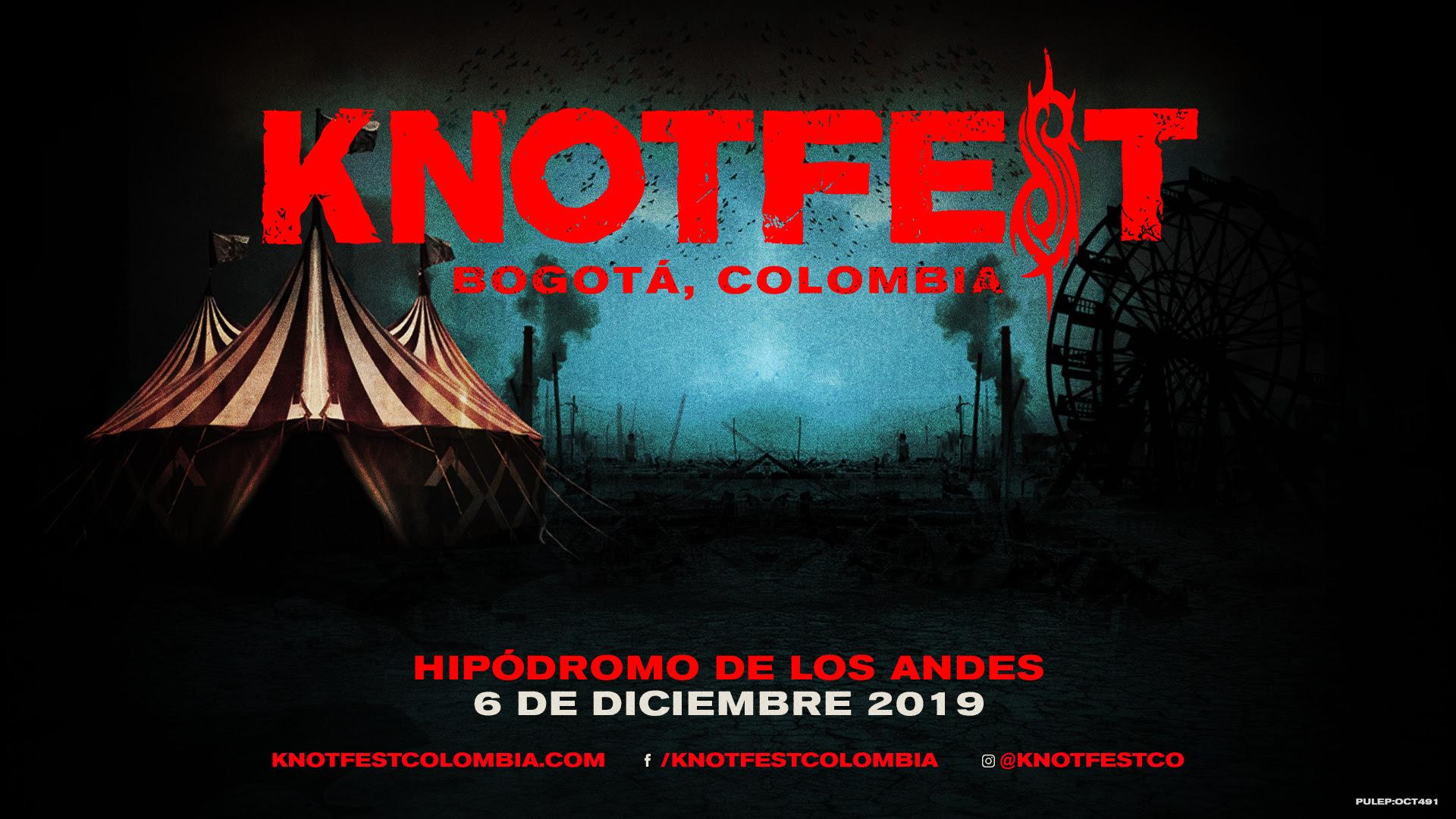 Fechas Afiche Cartel De Bandas Knotfest Colombia 2019